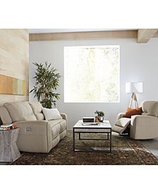 CLOSEOUT! Genella Power Reclining Sofa Collection with Power Headrest and USB Power Outlet