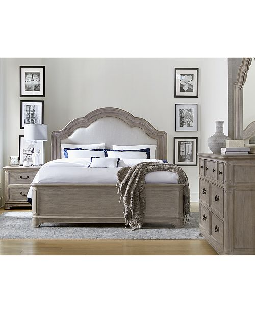 Elina Bedroom Furniture Set, 3-Pc. (Queen Bed, Dresser & Nightstand),  Created for Macy\'s