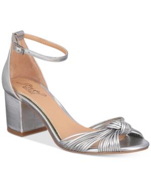 Jewel Badgley Mischka Lacey Block-Heel Dress Sandals Women