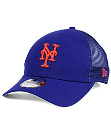 New Era New York Mets Team Trucker Patch 9FORTY Snapback Cap
