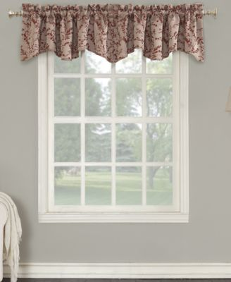 "Kalanie Floral 50"" x 18"" Blackout Lined Back-Tab Curtain Valance"