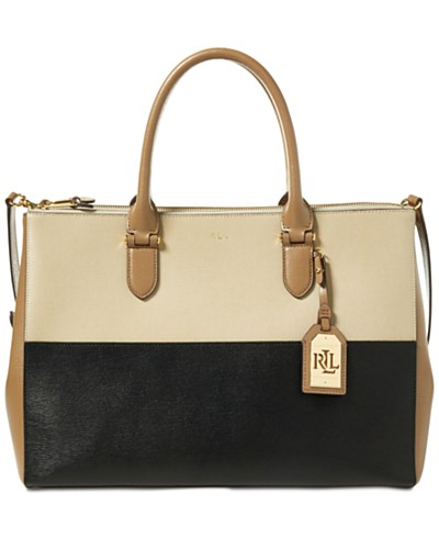 Lauren Ralph Lauren Newbury Double Zip Large Satchel