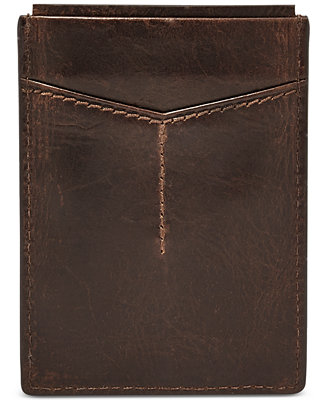 100% authentic b0270 4438f Fossil Mens Leather Derrick RFID Card Case  Reviews - All Accessories -  Men - Macys