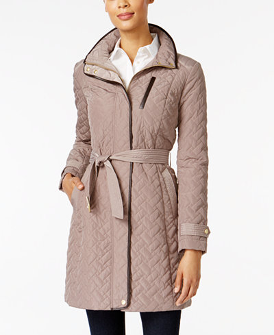 Cole Haan Signature Quilted Belted Coat - Coats - Women - Macy's : quilted belted coat - Adamdwight.com