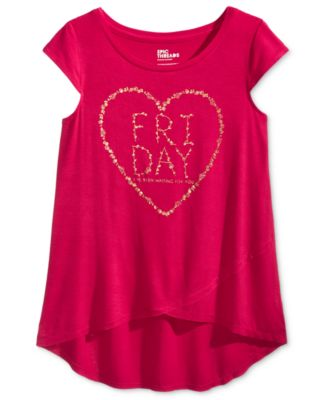 Image of Epic Threads Friday Graphic-Print T-Shirt, Big Girls (7-16), Created for Macy's