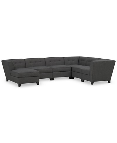 Harper Fabric 6-Piece Modular Sectional with Chaise, Created for Macy's
