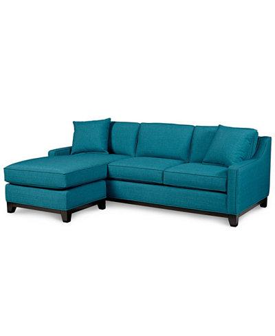 Keegan fabric 2 piece sectional sofa furniture macy39s for Keegan 2 piece sectional sofa