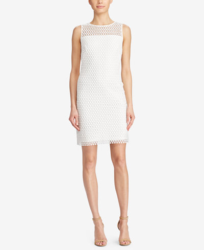 Lauren Ralph Lauren Geometric Lace Sleeveless Dress