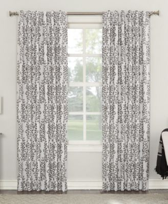 """Rosalie 52"""" x 84"""" Floral Blackout Lined Tab Top Curtain Panel"""