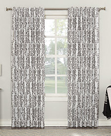 "Sun Zero Rosalie 52"" x 84"" Floral Blackout Lined Tab Top Curtain Panel"