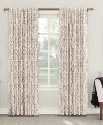 """Rosalie 52"""" x 95"""" Floral Blackout Lined Tab Top Curtain Panel"""