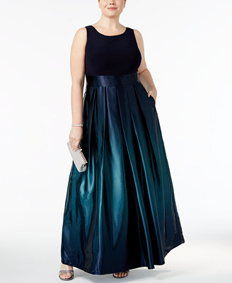 Plus Size Ombre A Line Gown by Sl Fashions