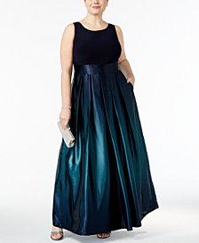 SL Fashions Plus Size Ombre A-Line Gown