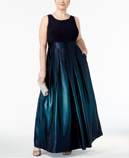 Sl Fashions Plus Size Ombre A Line Gown Dresses Women Macys