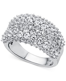 Lab-Created White Sapphire Cluster Ring (4 ct. t.w.) in Sterling Silver
