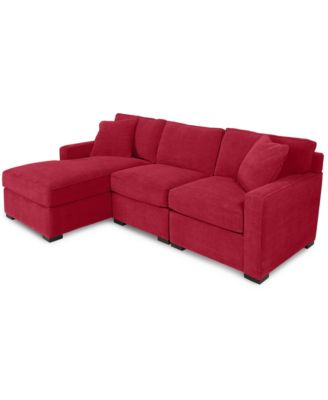 Radley 3-Piece Fabric Chaise Sectional Sofa - Custom Colors Created for Macyu0027s  sc 1 st  Macyu0027s : red sectional sofa with chaise - Sectionals, Sofas & Couches