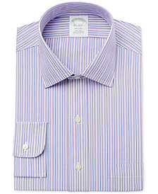 Brooks Brothers Men's Milano Extra-Slim Fit Non-Iron Purple Striped Dress Shirt