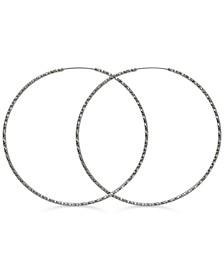 """Textured 3"""" Extra-Large Hoop Earrings"""