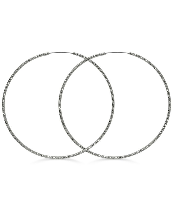GUESS - Textured Extra-Large Hoop Earrings