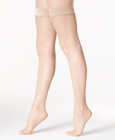 DKNY Women's  Fishnet Thigh Highs