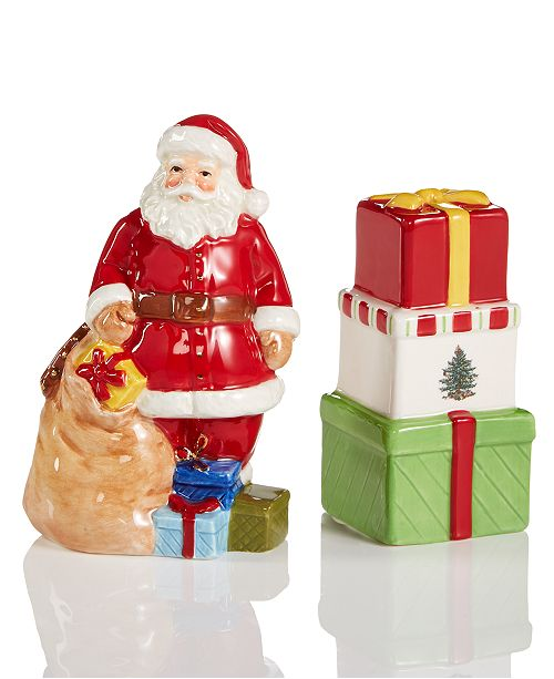 Spode Santa Salt & Gift Box Pepper Set
