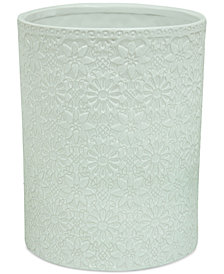Jessica Simpson Bonito White Wastebasket