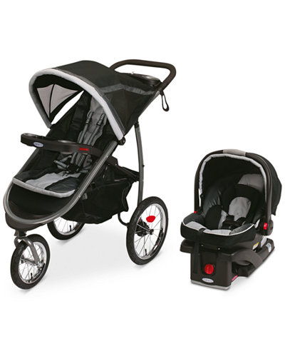 Graco FastAction Fold Jogger Stroller & SnugRide Click Connect 35 ...