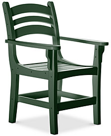 Casual Outdoor Dining Chair with Arms, Quick Ship