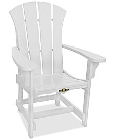 Sunrise Outdoor Dining Adirondack Chair with Arms, Quick Ship