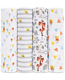 aden by aden + anais Baby Boys & Girls 4-Pk. Winnie the Pooh Cotton Swaddle Blankets