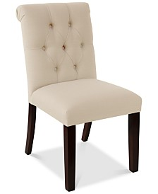 Darah Tufted Rollback Dining Chair, Quick Ship