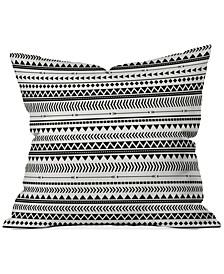 """Allyson Johnson Black and White  16"""" Sq. Decorative Pillow"""