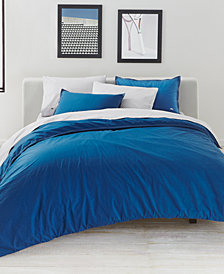 CLOSEOUT! Lacoste Home Relaxed & Washed  Blue Sapphire Bedding Collection