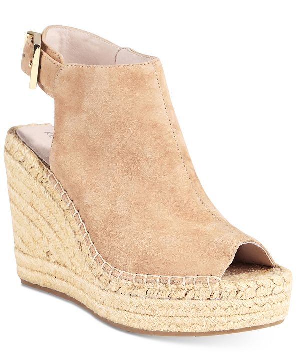 Kenneth Cole New York Women's Olivia Espadrille Peep-Toe Wedges