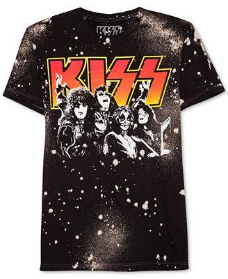 Hybrid Men's KISS-Print Cotton T-Shirt