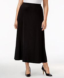 Kasper Plus Size Maxi Skirt
