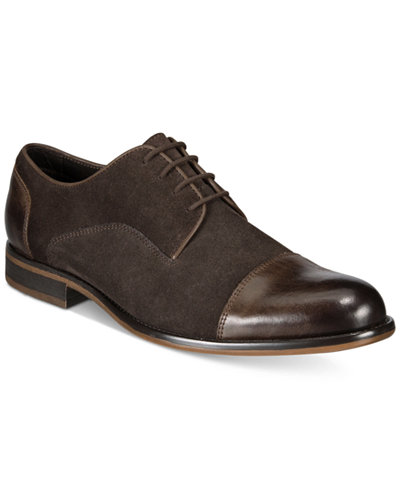 Alfani Men's Avery Suede Cap-Toe Oxfords, Created for Macy's