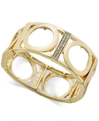 Image of Thalia Sodi Gold-Tone Pavé Stretch Bracelet, Created for Macy's