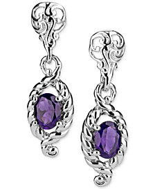 Amethyst Drop Earrings (2-1/5 ct. t.w.) in Sterling Silver