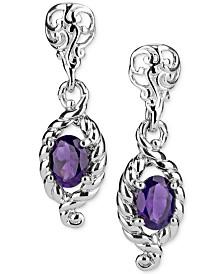 Amethyst Drop Earrings (2-1/5 ct. t.w.) in Sterling Silver