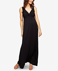 A Pea In The Pod Twist-Front Maxi Dress