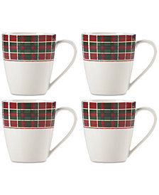 Lenox Vintage Plaid Set/4 Mug