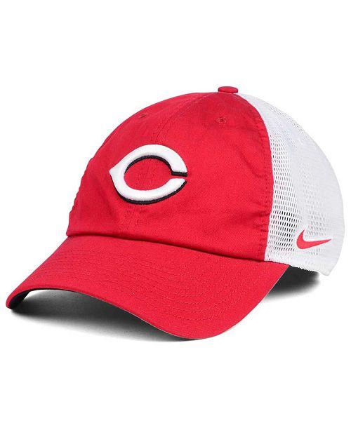 new concept 0d109 c7510 ... Nike Cincinnati Reds Dri-Fit Mesh Swoosh Adjustable Cap ...