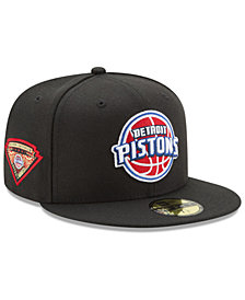 New Era Detroit Pistons Metallic Diamond Patch 59FIFTY Fitted Cap