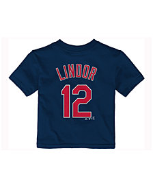Majestic Francisco Lindor Cleveland Indians Official Player T-Shirt, Infant Boys (12-24 months)