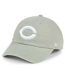 '47 Brand Cincinnati Reds Gray White CLEAN UP Cap