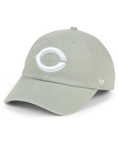 '47 Brand Cincinnati Reds Gray White CLEAN UP Cap