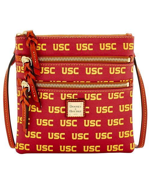 Dooney & Bourke USC Trojans Triple-Zip Crossbody Bag