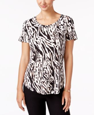 Image of JM Collection Printed Scoop-Neck Top, Only at Macy's