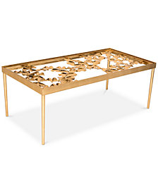 Otto Ginkgo Leaf Table, Quick ship